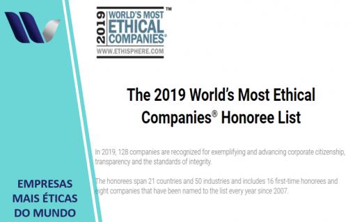 Instituto Ethisphere anuncia lista com as 128 empresas mais Éticas do mundo em 2019: apenas duas são brasileiras