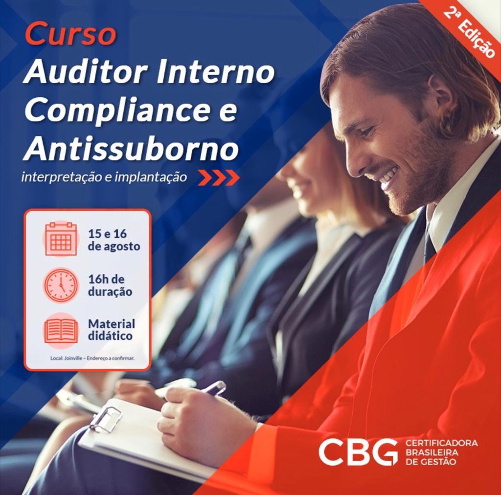 Curso: Auditor Interno de Compliance e Antissuborno: interpretação e implantação